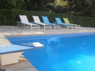 Photo for Apartment with pool at 50m beach