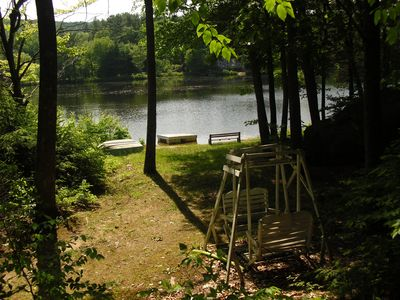 Photo for Charming Cottage on Crystal lake in the heart of NH Lakes Region
