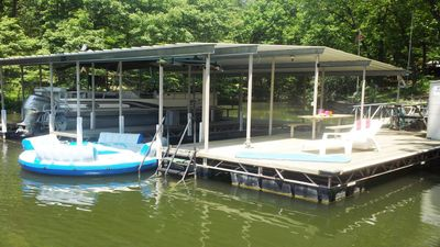 Photo for Lake Front Private Dock NO WAKE COVE, 4 Bedrooms, 2.5 Baths, Sleeps 12-14