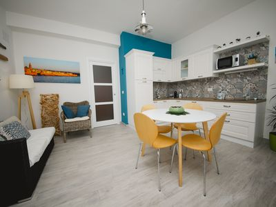 Photo for S'Arena Bianca Family Apartment - 30 meters from the beach -