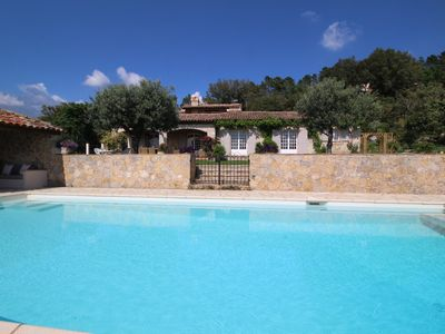 Photo for Exceptional  dream house in Montauroux, Var, heated pool, pets allowed