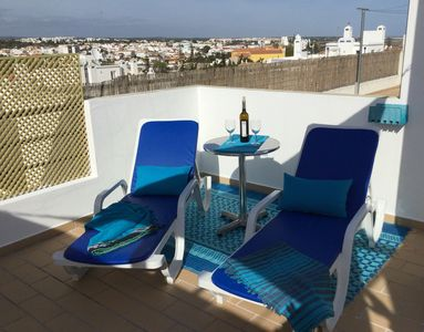 Photo for Central Tavira Holiday Apartment. Huge furnished terrace & sun terrace with view