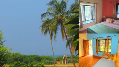Photo for 28) Beach Touching Ground Floor 1 Bedroom Apartment - Candolim