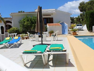 Photo for Beautiful and classic villa  with private pool in Moraira, on the Costa Blanca, Spain for 4 persons