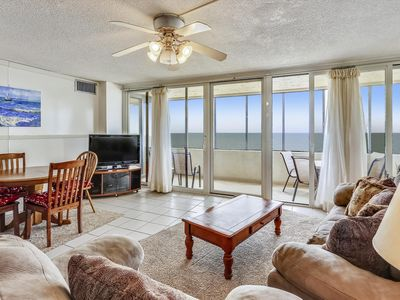 Photo for Cute Oceanfront Condo - Outdoor Heated Pool, Sauna, Volleyball (85th St.)