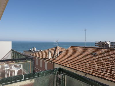 Photo for M110 - Marcelli, three-room apartment facing the sea with terrace and parking space 5
