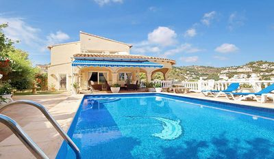 Photo for Beautifully Furnished Family Villa with Spectacular Views and Pool