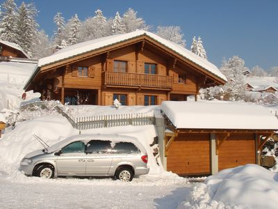 Photo for Charming Family Friendly Chalet in Swiss Alps near Ski lifts and Bike Trail