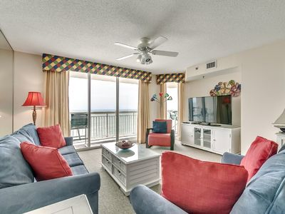 Photo for Crescent Shores 1804, 2 Bedroom Beachfront Condo, Hot Tub and Free Wi-Fi!