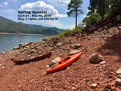 Photo for VALLECITO LAKEFRONT w/Private deer-trail 2Shoreline - Comp Canoe & Kayak! Pet :)