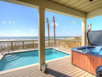 Photo for Holiday Fin - HEATED Pool & Hot Tub! Game Tables!  Beachfront!!!