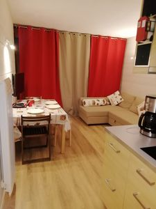 Photo for Apartment T2 / 6 people, living room facing the slopes, parking, cellar.
