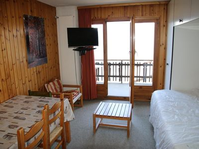 Photo for Studio 2*, for 2-4 people located at about 20 meters from the cable car. Living room with sofa bed a