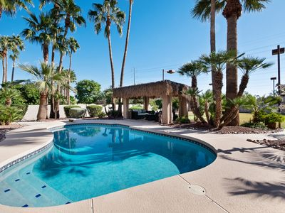 Photo for THIS DREAM VILLA HAS IT ALL! PUTTNG GRN, SPORT COURT, HTD POOL, RAMADA, KOI POND