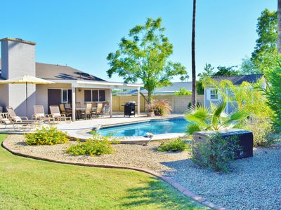 Photo for Scottsdale Sunscape - Come lounge by the sparkling pool, sleeps 13!