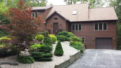 Photo for Stunning Berkshire custom luxury home in private wooded community- walk to lake