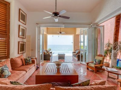 Photo for Sandy Beach-front Villa with Chef, Maid, Private Pool, All-Inclusive Available
