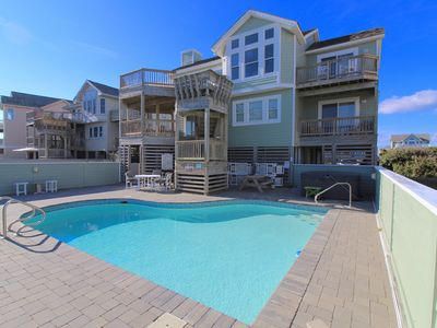 Photo for K1217 Ey Believe. Oceanfront, Direct Beach Access, Pool, Hot Tub