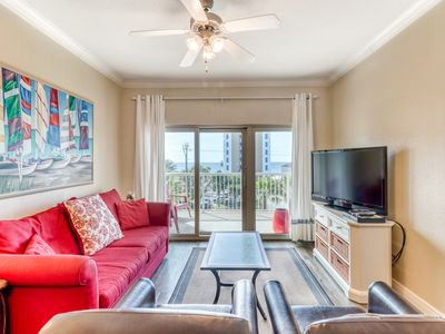 Photo for Luxury Gulf view condo w/ a shared pool, hot tub, sauna, & more - walk to beach!