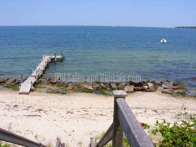 Soft, Sandy, Private Beach and dock, under 200 feet away!