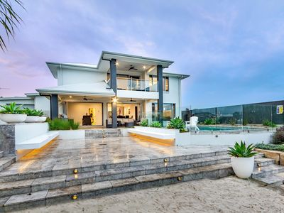 Photo for Resort Style Home on the Canal with Pool, Ducted Air and Foxtel -  The Peninsula, Banksia Beach