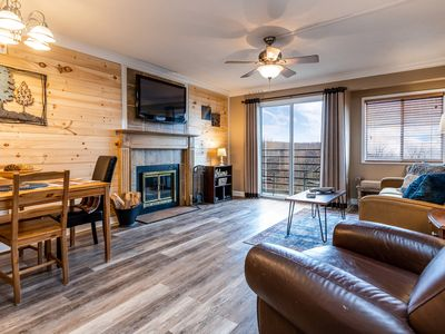 Photo for ⭐REMODELED Cabin Style Mountaintop Views - Indoor/Outdoor Pool - Hot Tub - WiFi⭐