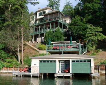 Photo for LAKE LURE LAKEFRONT HOME- Located Within Rumbling Bald Resort- 2 Kayaks