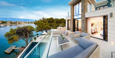 Photo for 4bd villa, luxurious and elegant, modern dalmatian architecture, waterfront