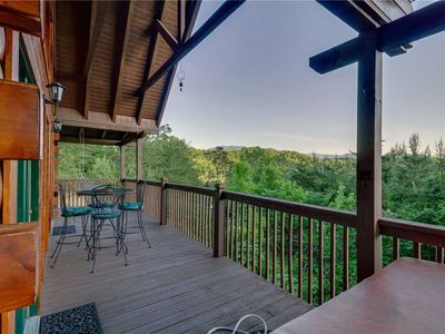 Photo for Have Fun at Harrison's Hideout | Beautiful Views of Mount LeConte | WiFi | Pet-Friendly | Spacious