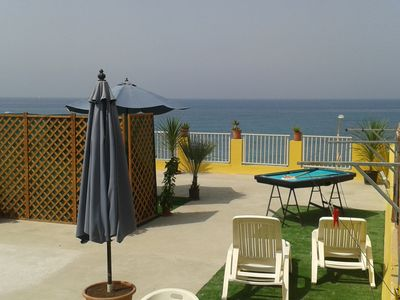 "Photo for ""Villa on the sea 4-6 seats"" with a terrace of 130 m2 wifi, barbecue, deck chairs."