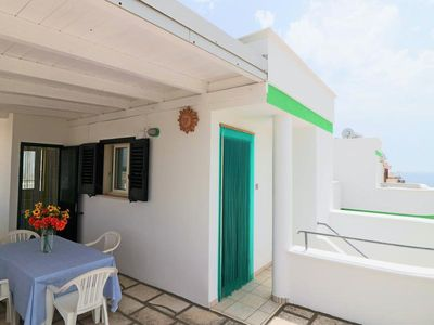 Photo for Attico Pitagora holiday home with sea view in Residence Uxsentum