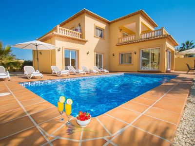 Photo for Calpe Villa, Sleeps 8 with Pool, Air Con and WiFi