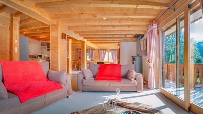 """Photo for At 750 m from the center, the chalet """"Tarine"""" is ideally located to fully enjoy the panorama."""