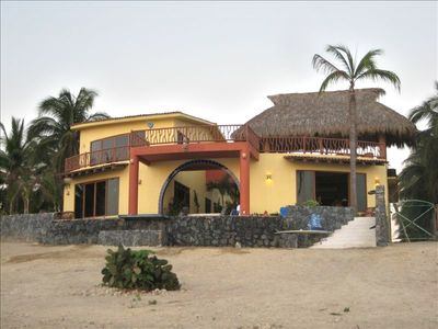 Casa Mar Azul, Viewed From The Beach, Just Steps Away From The Pacific!