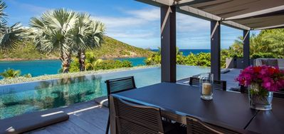 Villa Eden House -  Ocean View - Located in  Beautiful Marigot with Private Pool