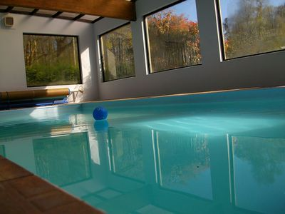 Photo for Indoor Pool beautiful 2 bed lodge sleeping 4 in 5 acres of beautiful Woodland