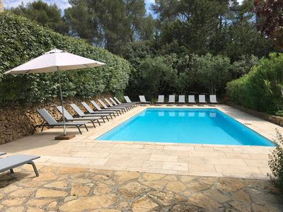 Photo for FAMILY APARTMENT, 2-8 PEOPLE, IN PROVENCE MAS 16TH CENT., POOL, GARDEN, PARKING