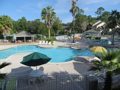 Photo for LARGE GROUP GETAWAY, 3 x 2BR VILLAS for 27! POOL, HOT-TUB, GRILL, TENNIS
