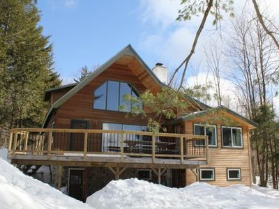 Photo for Fully renovated 4 bedroom chalet with outdoor pizza oven minutes from Jay Peak!