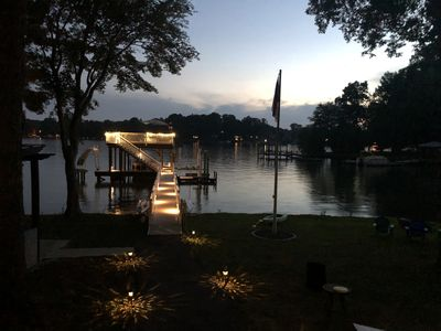 Photo for New Lakefront Listing! Sunsets, dock slide and more at Heron House!