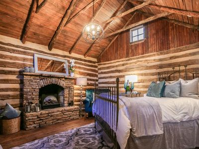 Photo for Absolutely Charming Allen Cabin, 1/1 Historic Cabin, Hot Tub, Close to Town!