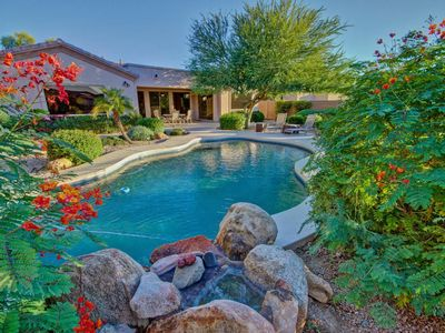 Photo for Palm Ridge Villa- DISCOUNTED RATES! MCDOWELL MOUNTAIN GEM! GORGEOUS OASIS VIEWS WITH HEATED POOL, POOL TABLE!