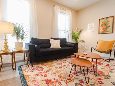 Photo for Yellow - Stylish Mid Century Modern Apartment in Walkable Neighborhood