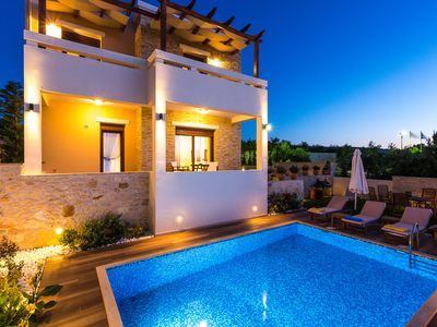 Photo for Fabulous new build of private family villa with spectacular views of the Med