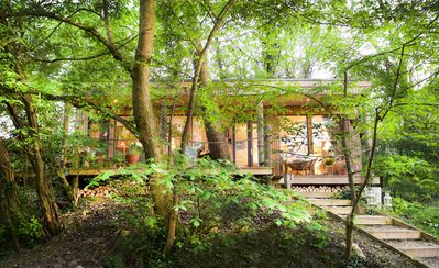 Photo for The Lodge near Bath, country holiday lodge in peaceful setting, with