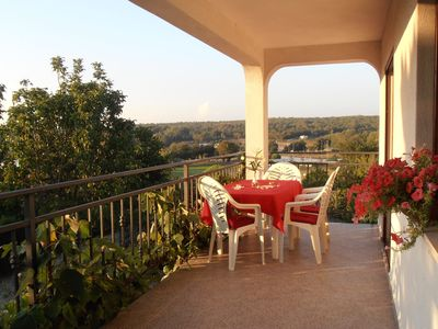 Photo for Apartment with large balcony and partial sea view