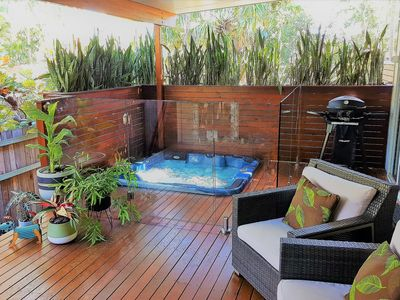 Photo for Private cottage with in built heated spa on the deck