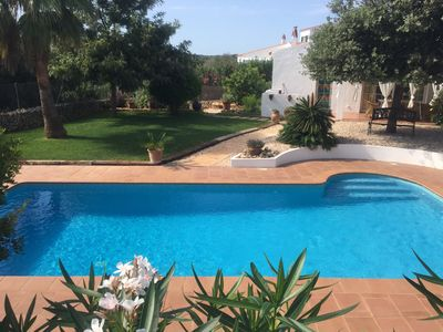 Photo for Modern villa stunning gardens with lawn, pool, close to beach, restaurant & shop
