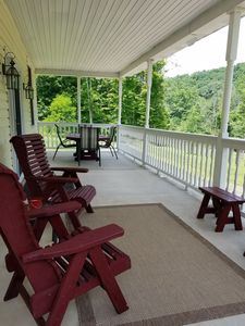 Spacious front porch for quiet coffee or a family meal
