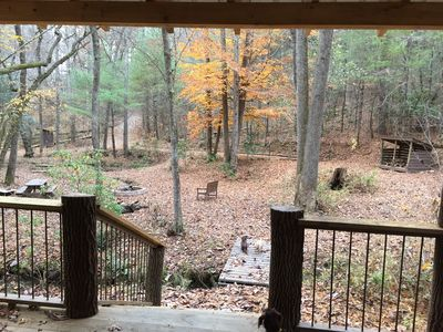 Fall view from the shelter of the overall main area; 12 acres of total privacy